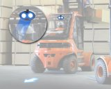 새로운 파란 화살 패턴 LED 물자 취급 포크리프트 안전 빛