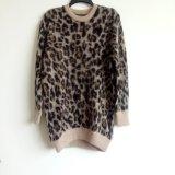 Maglione di Intarsia del leopardo del Brown di modo di Lasies 'con il collo rotondo