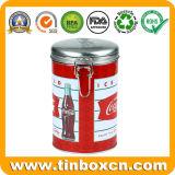 음료를 위한 금속 클립을%s 가진 완벽한 돋을새김된 주석 상자