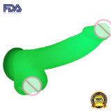 Resplandor adulto de mierda de los productos del sexo en los juguetes grandes oscuros del sexo de Dick para la mujer (DYAST375A-G)