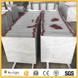 Marbre en pierre blanc bon marché normal de blanc de Guangxi