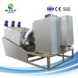 Industria del Papel No-Clogging deshidratación de lodos de tratamiento de aguas residuales filtro prensa de tornillo