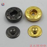 A fábrica de metais venda quente pressionar o botão com a impressão de logotipo