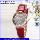 Reloj de encargo del cuero del ODM del reloj de la marca de fábrica de la aleación del asunto (WY-134B)