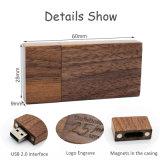 Логос привода пер USB подарков венчания деревянным внезапным персонализированный грецким орехом