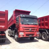 HOWO 336HP 10wheels 건축 작업 쓰레기꾼 LHD 6X4 팁 주는 사람 트럭