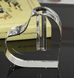 Il cristallo di figura del cuore di Jingyage perfezionamento i regali della decorazione di cerimonia nuziale del vaso
