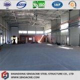 Almacén de bastidor de acero de construcción con estructura de cerchas