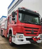 6X4 Sinotruk HOWOトラック頑丈な20トンの水タンカーの泡の消防車の