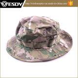 Tampão militar da pesca que acampa caminhando o chapéu largo de Sun camuflar da borda