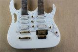 Guitare électrique de double collet blanc de Hanhai avec 6+6 chaînes de caractères