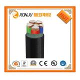 0,75mm2 Condutor de cobre flexível de isolamento de PVC branco cor preta fábrica de fio de cabo
