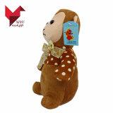 리본을%s 가진 최대 판매 제품 연약한 개인화된 견면 벨벳 원숭이
