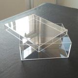 18 años de acrílico transparente suministrados de fábrica cajas de almacenamiento de la zapata decorativos