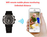 WiFi HD 720p P2P Watch caméra IP mini Hidden Watch Cam avec LED