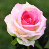 싼 인공적인 가짜 플라스틱 꽃 단 하나 로즈 혼합 색깔 빨간 장미 꽃