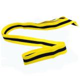 Kundenspezifische einfache materielle Entwurfs-Schwarz-Gelb-Medaillen-Farbband-Abzuglinie