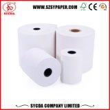 Papier thermosensible de prix usine de roulis de papier de caisse comptable