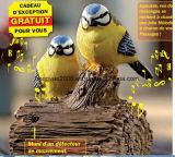 Oiseau neuf matériel de musique de détecteur d'oiseau de chant de détecteur de modèle de Polyresin pour la décoration d'intérieur