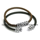 Man를 위한 간단한 Classic Design Leather Bracelet