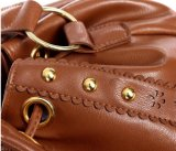 Zwei Schulter-Beuteltote-Beutel-Handtaschen der Farben PU Dame-Handbag