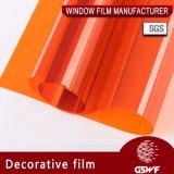 Яркие оттенки окна пленки для декоративной оранжевый тип