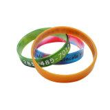 2017 soie promotionnels personnalisés Bande de poignet d'impression, réglable de la soie bracelet en silicone d'impression, de promotion de la soie Bracelet Printsilicon