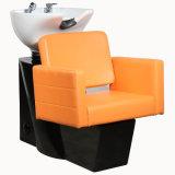 하수구 단추 이발사 머리 세척 의자를 가진 주황색 샴푸 단위
