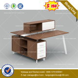 Дешевые цены MFC деревянной мебелью из красного дерева цветной офисной рабочей станции (HX-8NE1066)