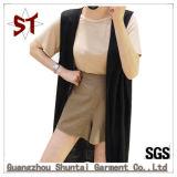 Soem kundenspezifische elegante Dame Lang-Art Sleeveless Vest Coat