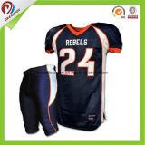 Preço barato o seu nome camisolas de futebol americano costurados personalizada