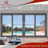 Design moderno com proteção acústica corrediço de porta de vidro duplo de alumínio