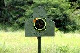 La salpicadura de papel adhesiva reactiva de la blanco del Shooting repartió amarillo fluorescente