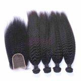 Human Remy Kinky cheveux raides perruques pour les femmes de la cuticule complet