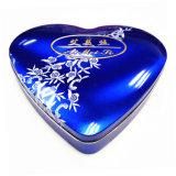 Contenitore a forma di di stagno del regalo del cioccolato del cuore romantico; Contenitore a forma di di stagno del biscotto del cuore