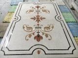 Natürlicher Steinwasserstrahlmarmor für Fußboden/Bodenbelag/Wand/Küche/Vorhalle/Platte-/Fliese-/Mosaik-Muster/Rand/Medaillon/Fußboden-Fliesen mit Metaleinlegearbeit