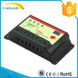 PVシステム10IStのための10AMP 12V 24Vの太陽コントローラか調整装置