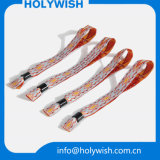 Wristbands de la boda del telar jacquar de la cinta con insignia de la impresión