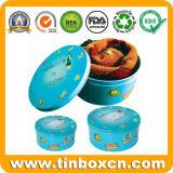 Подарок упаковывая вокруг жестяной коробки для коробки ткани металла