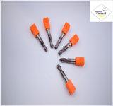 鋼鉄CNCの機械化の部品&#160のためのCutoutil HRC55 TialnのコーティングR2.5*10*5D*50L*2f/4f; 球の鼻の端製造所