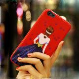 Крышка случая телефона картины TPU девушки способа красивейшая на Iph 7