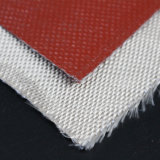 Résistant aux températures élevées de silice recouvert de tissu en silicone ignifugé