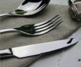 Vaisselle plate de vaisselle de polonais de miroir d'acier inoxydable