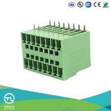 Bloques de terminales plásticos MB1.5h/V3.81 de tornillo de cobre amarillo PA66