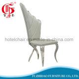 白い翼PUの革によって装飾されるレストランの椅子