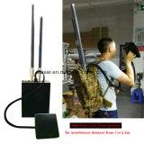 Emittente di disturbo del Uav del ronzio di Manpack delle 5 fasce che inceppa GPS, video distanza 2-3km