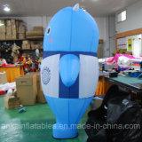 Desenhos animados moventes azuis infláveis profissionais personalizados do projeto