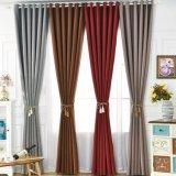 Rideau en guichet solide d'arrêt total de polyester de type de textile moderne de maison (14F0023)