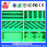 Для использования вне помещений один зеленый светодиодный дисплей P10 зеленый для рекламы плата модуля