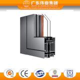 Isolação térmica de série 75 Vidro duplo aberto porta de alumínio interior